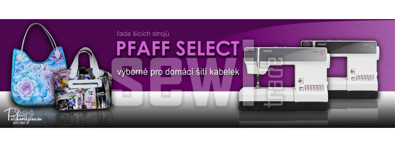 Pfaff Select - stroje pro šití kabelek