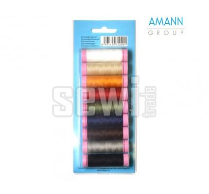 Sada 9 univerzálních šicích nití - Amann