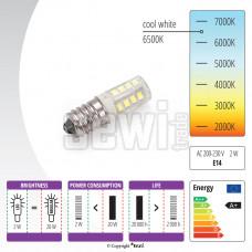 Žiarovka LED 230 V, 2 W  závitom